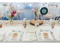 Hessian And Lace Table Runner - 9 x 7ft Handmade Narrow Overlocked & 1 x 18ft . Ideal for Weddings!