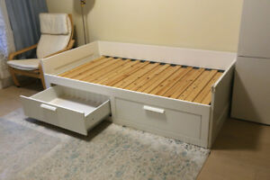 BRIMNES - bed frame with 2 drawers