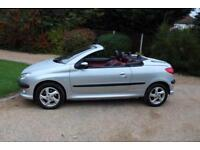 2002 52 PEUGEOT 206 1.6 BLACK/SILVER S COUPE CABRIOLET 2D 110 BHP CHEAP CAR