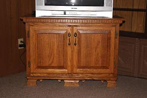 Solid Oak TV Table