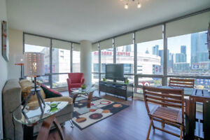 Furnished condo: 2 bedrooms, 1 bath, downtown Toronto