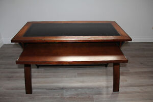 two cherry wood and glass desk Cambridge Kitchener Area image 2
