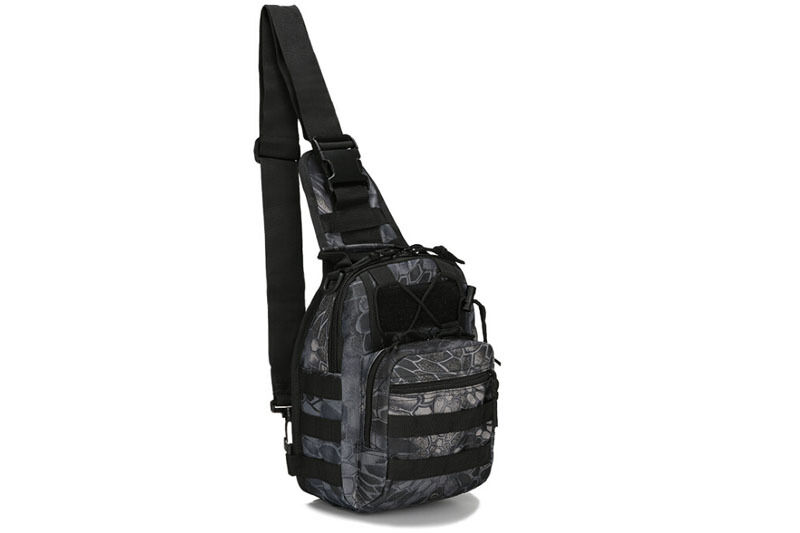 Outdoor Shoulder Military Tactical Backpack Travel Camping  Hiking Trekking Bag Black pythons grain