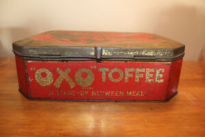 Old Large OXO Toffee Tin - Rare London Ontario image 4
