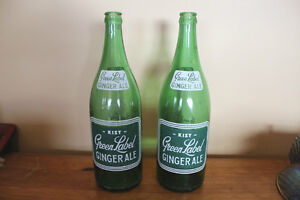 Vintage Kist Green Label Gingerale Bottles