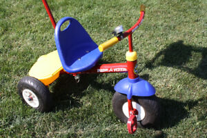 Radio flyer tricycle - push or ride or steer from behind