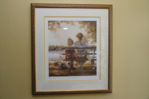 TRISHA ROMANCE / GOLDEN MOMENTS PRINT / MUSEUM LEVEL FRAMING