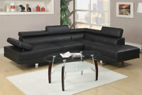 NEW! Ultra Modern Sectional Sofa with Adjustable Headrests!