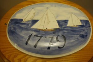 Painted Bluenose ceramic plaque/sign