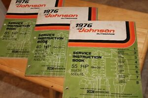 1976 Johnson Outboard service instuction manuals.