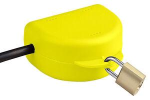 RuS Steckersafe Basic - Die abschließbare Box für jeden Stecker ! (gelb)