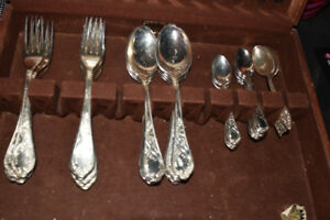 silver plate flatware
