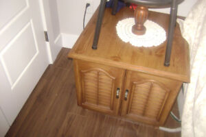 multiple items furniture antique table-- stool &cabinet