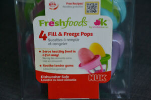 Fill and Freeze Pops for Baby - Brand new - Unopened Box
