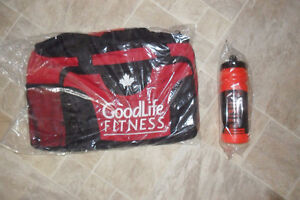 Goodlife fitness Gym Bag and  Water Bottle