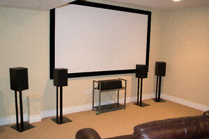 "Sony Bravia home theatre projector and high-quality 106"" screen"
