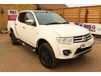2014 MITSUBISHI L200 DI-D 4X4 TROJAN BLACK DOUBLE CAB PICK UP DIESEL