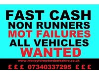 WANTED CARS VANS 4X4 MPV PICKUPS CARAVANS CAMPERS MOTORBIKES NO MOT NO KEYS NON RUNNER NO LOG BOOK