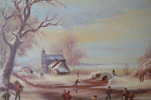VINTAGE ORIGINAL OIL ON CANVAS LARGE PAINTING 42 X 31 inches Gatineau Ottawa / Gatineau Area image 6