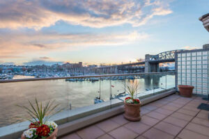 Newly Renovated. 275 sqft Private Deck! WATER VIEWS! 2 Parking