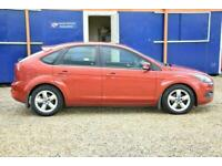 2009 Red Ford Focus 1.6 Zetec 5 Dr Hatch Only 55000 Mls FSH Immaculate Example