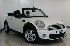 2011 11 MINI CONVERTIBLE 1.6 ONE 2DR 98 BHP