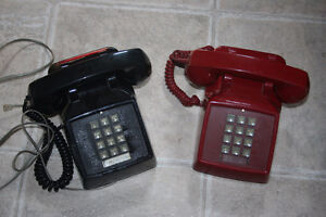 Vintage 1980' push button telephone ( red one available)