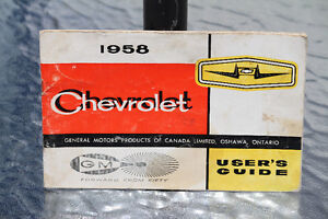 1958 CHEVROLET OWNER'S MANUAL GUIDE