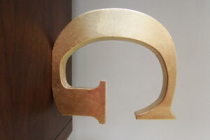 "Large Wall Letter ""G"" Copper Metallic Decor"