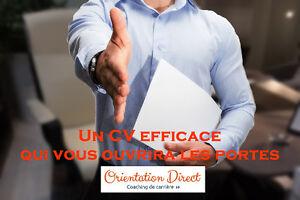 Rédaction de curriculum vitae (CV) personnalisé et professionnel West Island Greater Montréal image 1