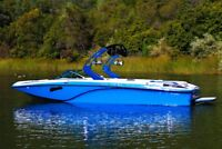 Wake boat and captain for rent