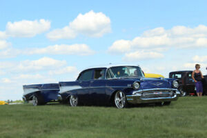 1957 Chevrolet 210 with matching trailer