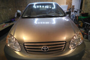 Safetied 2003 Toyota Corolla CE