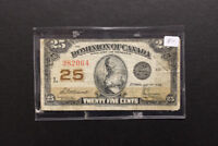 Canada 1923 25 Cents Bank Note