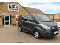 2016 FORD TRANSIT CUSTOM 290 TDCI 155 L1 H1 LIMITED DOUBLE CAB 6 SEAT CREW VAN S