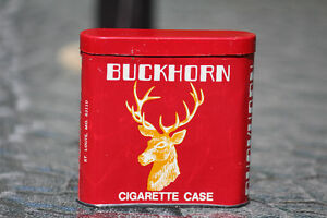 RARE BUCKHORN CIGARETTE TOBACCO POCKET TIN