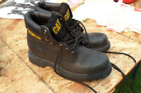 CAT Brand-  steel toe boots leather black
