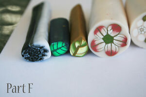 9 original unbaked polymer clay canes made by artist Kitchener / Waterloo Kitchener Area image 2