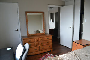 Large bedrooms in a furnished 2 BDR apartment available Jan 1st Kitchener / Waterloo Kitchener Area image 2