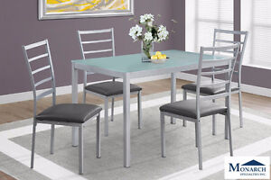 Brand NEW Silver Metal Dinette Set! Call 902-595-1555!