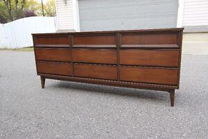 Walnut Mid Century Modern Dresser
