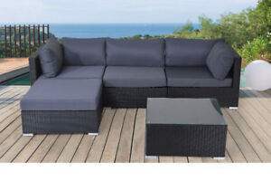 Outdoor Aluminum Resin Wicker Patio Sectional Sofa Sets