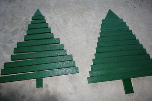 wood christmas tree for your front porch or indoors