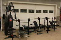 Hinton Ab- Workout Benches, weights, Universal Machine