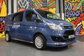 2017 FORD TRANSIT CUSTOM 2.0 TDCI 170PS LWB 290 LTD DOUBLE CAB LSPORT PACK BLUE