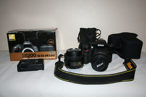 Nikon d5200 with 55mm and 35mm with camera sleeve, GREAT VALUE!!