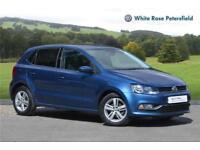 2017 Volkswagen Polo Match Edition 1.2 TSI 90PS 7-speed DSG 5 Door Petrol blue S