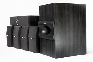 RCA Subwoofer and 5 Speakers RT2250 For Surround Sound System