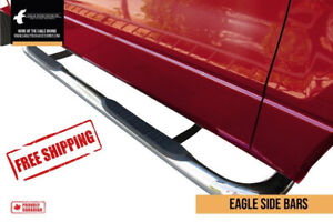 """Stainless Steel Step Bars 3"""" - Ford Dodge GM Chev FREE SHIPPING!"""