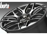 Genuine Bola B8R Concave Alloy Wheels & Tyres Like New 5x112 VW Audi Seat Mercedes Golf Leon CLA A3